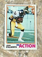 1982 Topps In Action John Stallworth #220 Pittsburgh Steelers NFL Football Card