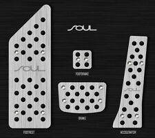 Automatic Aluminum Brake Pedal Kit Silver For 2014 2015 Kia All New Soul