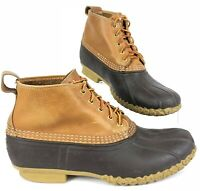 """LL Bean Ducks Boots Mens Size 11 M Hunting Leather Rubber 5"""" Ankle 5 Eye USA"""