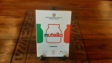ITALIA 2021 - Trittico NUTELLA  - 3 X 5 Euro Argento FdC - Bianca Rossa e Verde