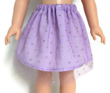 "Lavender Sparkle Skirt for 14.5"" American Girl Wellie Wishers Wisher Doll Clothe"