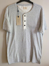 Selected Homme Mens Split Neck T Shirt Jersey Tee Top M - XL BNWT Uk Freepost