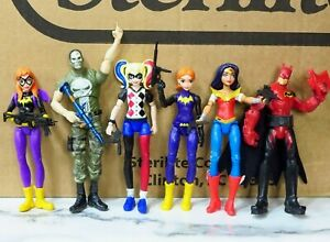 "DC Super Hero Girls 6"" Action Figures Wonder Woman Harley Quinn Batman"