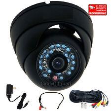 Outdoor Security Camera Night 20 IR LED 600TVL w/ Sony CCD Audio Microphone 1V2