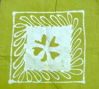 Housse de coussin Vert Batik 2 faces Taie de coussin Coton Inde Hippy Boho G