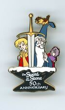 DSF Disney 50th Sword in the Stone Wart Merlin Archimedes Owl Madame Mim LE Pin