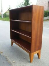 1950s DANISH SCANDINAVIAN MID CENTURY VINTAGE SMALL BOOKCASE SHELVES MAGONY