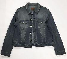 Energie jacket jeans XXL blu denim giacca giubbino azzurro usato stretch T1918