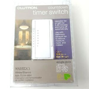 Lutron MA-T51H-WH Maestro Countdown Timer New OB Free Shipping