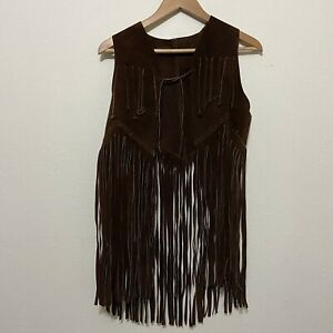 by Karen Kane; Like New Fringed Vest; Size L; Faux Suede Fringe and Lining in Perfect Condition