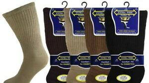 Mens Extra Wide Non Elastic Diabetic Socks 3,6 Pairs Size 6-11 Comfort Fit Work