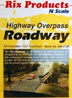 N Scale - Highway Overpass Roadway, 4 Pcs.  - RIX-628-0156
