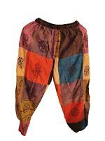 Patchwork Casual Cotton Trousers Hippie Yoga Pants Festival Combat