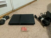 Sony PlayStation 2 PS2 Slim Console Black POWERS ON For Parts Only