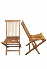 Wood indoor-outdoor Folding Art Chair (Set of 2 chairs)