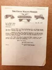 a very nice 1927 billhead for THE EAGLE WAGON WORKS of Auburn, NY -dump wagons