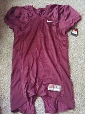 Nike Football Practice Mesh Jersey Size Large 535703 Short Sleeve Maroon $55