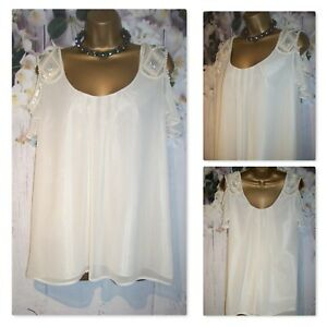 NEW LADIES NEXT TOP SIZE 12, Cream Jewel Beaded Occasion Party Blouse rrp £50