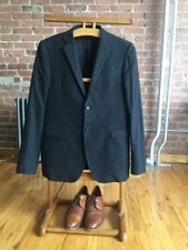 Costume National Men's Suit 52R Amazing Wool + Cotton Gray Flannel, Italy