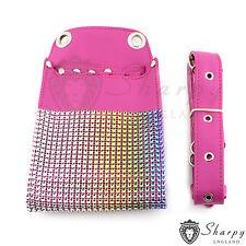 Original Sharpy Hairdresser Scissors Pouch Holster Bag Belt Pink Leather RRP £25