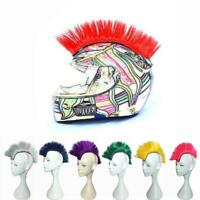 Mohawk Punk Rock Spiky Wig Short Crest Straight Tail Spiked Colors Costume HOT!