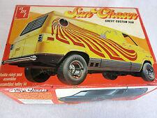 """Vintage 1970s AMT Sun Chaser, Chevy Custom Van plastic model kit T402 """"started"""""""