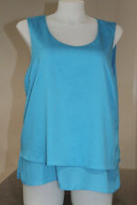 Womens size 18 blue layered blouse made by SUZANNE GRAE