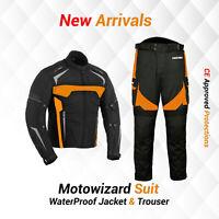 Motorbike Jacket Cordura Trouser Pant Waterproof Motorcycle Biker Racing Suit