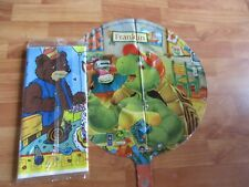 2pc Lot 1997 Franklin the Turtle Party Goods Table Cover Balloon   NOS