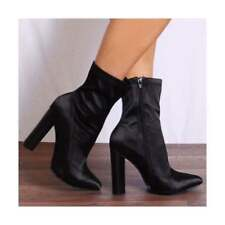0454af9447 Satin High Heel (3-4.5 in.) Ankle Boots for Women | eBay