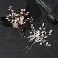 Bridal Hair Accessories Haircomb Crystal Headpiece Pearl Hairpin Hair Ornaments