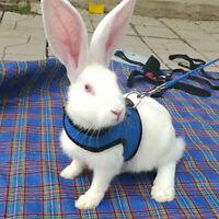 S/M/L Small Pet Rabbit Mesh Harness With Leash Animal Vest Soft Hamster