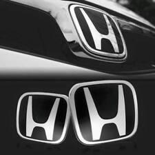 2xJDM Black H Front and Rear Emblem Badge For HONDA ACCORD 2008-2017 SEDAN 4Door
