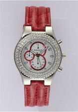 Uhr , Damenuhr, MADISON New York , Chrono-Optik , rot