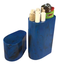 Smoke Space - Cigarette Case - Lighter - Smoking Accessories - (Blue/Black)