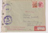Gemeinsch.Ausg. Mi. 956,951, Not-R-Stotternheim 6.10.47, 2-fach brit.Zensur