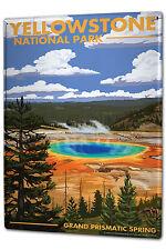 Blechschild XXL Abenteurer Yellowstone Park