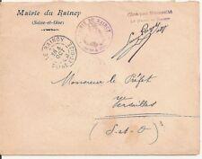 LETTRE,COVER,LSC;Seine et Oise;Mairie LE RAINCY; 3/10/1905,Franchise,Versailles