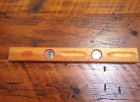 "RARE Vtg Stanley Handyman No. H1295 Cabinetmakers Wooden Carpenters Level 20"""