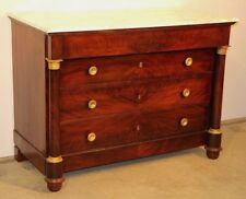 Paris antique French Empire chest of drawers 1810 ormolu mahogany marble bronze