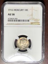New listing 1916 P Ngc Au-58 Mercury Dime #W6734