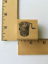 Good Stamp Stamp Goods Rubber Stamps -Old Fashion Ice Cream Maker - NEW