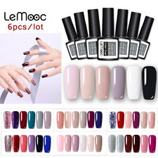 2-6 Bottles Gel Nail Polish Lot UV LED Lamp Design  Varnish Set LEMOOC