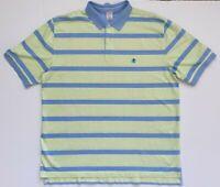 Brooks Brothers Original Fit Mens Green Blue Striped Polo Shirt 2XL