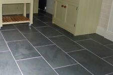 600 x 300 x 10 black slate floor tiles also suitable for stone wall cladding