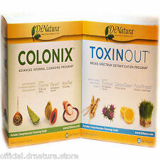 Dr Natura Colonix + Toxinout Combo Colon Liver Detox & Cleanse 30 Day Programs