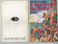 emilio salgari racconti illustrati n. 69 hansa avventure 1°edition 1936 rare xxx
