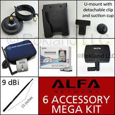 Alfa AWUS036H 1000mW USB KIT- 3 ANTENNAS Magbase MOUNT