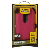 OtterBox Defender Series Case for LG G2  Verizon Only-White/Pink