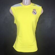 Adidas Real Madrid Techfit sleeveless base layer shirt XL yellow